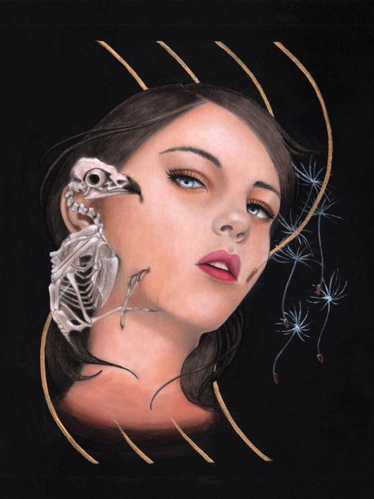 Air - Original Acrylic Painting by Artist Carolina Lebar