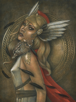 Athena - Original Painting by Artist Carolina Lebar