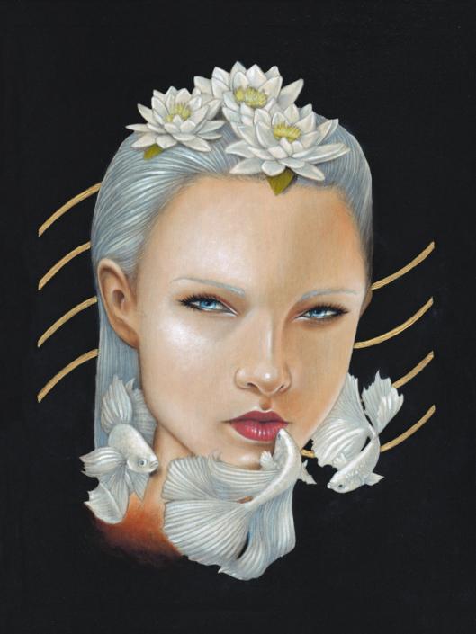 Water - Original Acrylic Painting by Artist Carolina Lebar