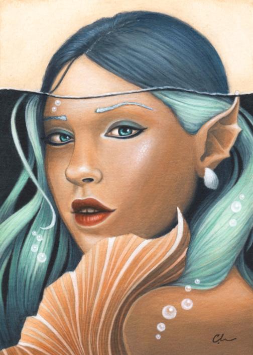 Fathom - Original Acrylic Painting by Artist Carolina Lebar