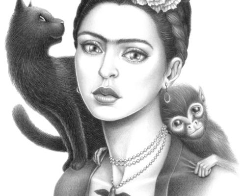 Frida Kahlo - Original Illustration by Artist Carolina Lebar