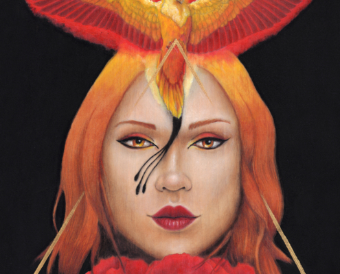 Fire - Original Acrylic Painting by Artist Carolina Lebar