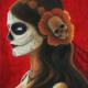 Senora de los Muertos - Original Acrylic Painting by Artist Carolina Lebar