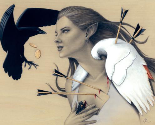 Last Breath - Original Acrylic Painting by Artist Carolina Lebar