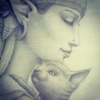 I Will Protect You - Pencil Drawing by Artist Carolina Lebar