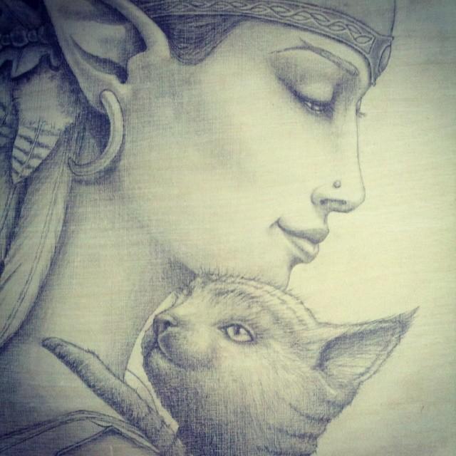 I Will Protect You - Pencil Drawing by Artist Carolina Lebar