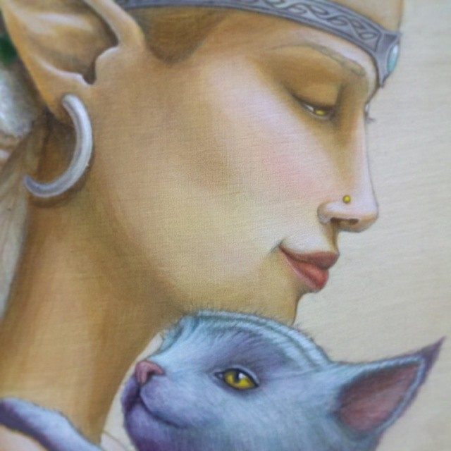 I Will Protect You - Original Acrylic Painting by Artist Carolina Lebar