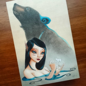 Bielle - Original Acrylic Painting by Artist Carolina Lebar
