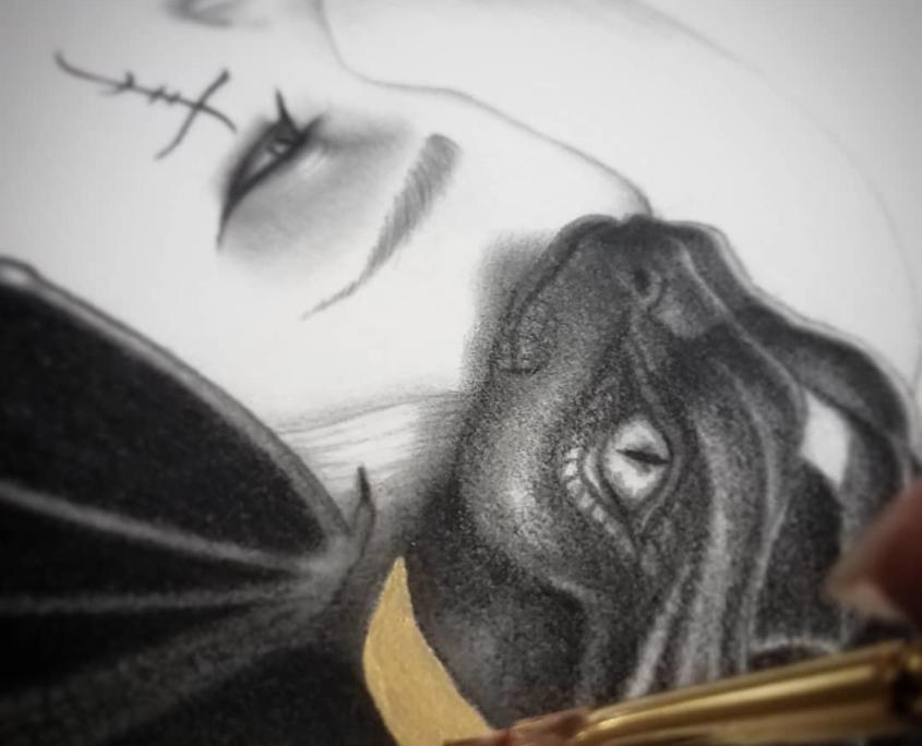 Chusi - Original Illustration by Artist Carolina Lebar