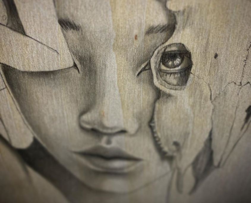 Earth - Original Pencil Drawing by Artist Carolina Lebar