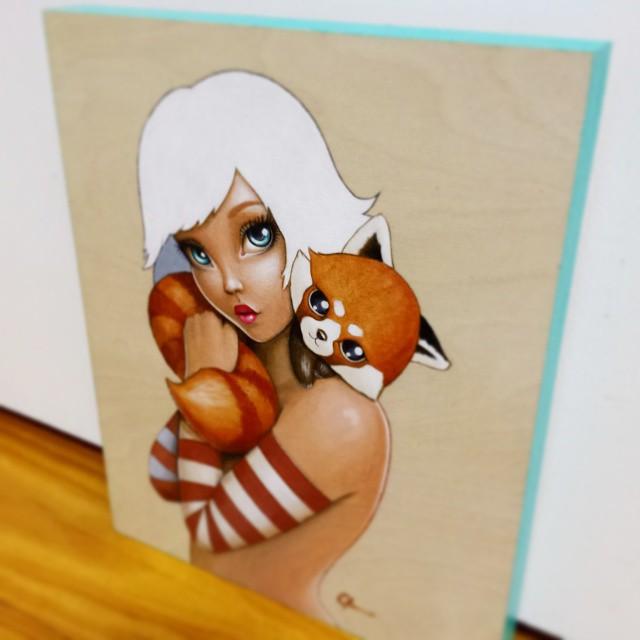 Kawaii Kuddles - Original Acrylic Painting by Artist Carolina Lebar