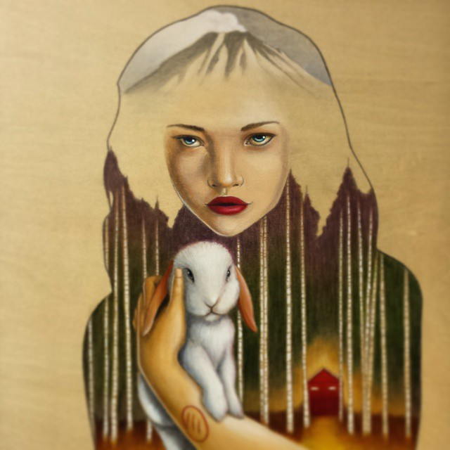 Madman's Daughter - Original Acrylic Painting by Artist Carolina Lebar