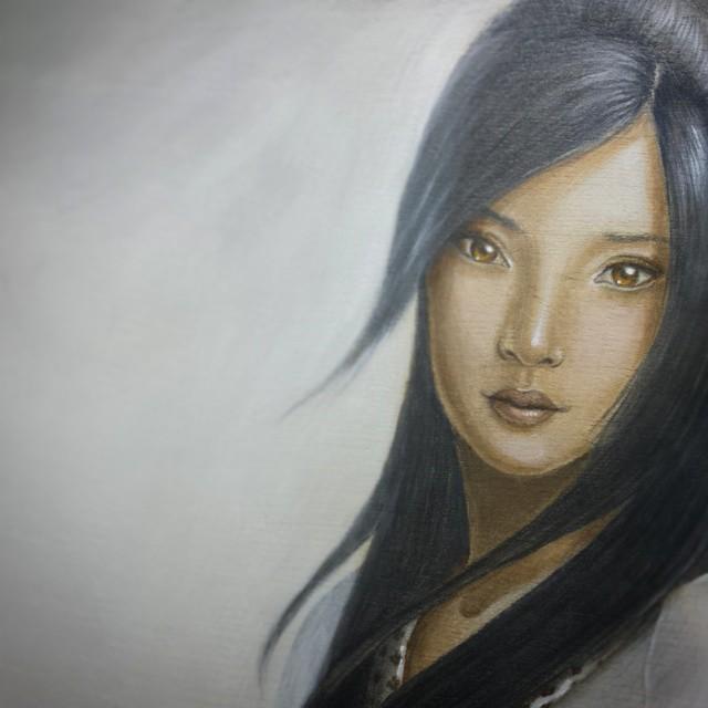 Mist Stalker - Original Acrylic Painting by Artist Carolina Lebar