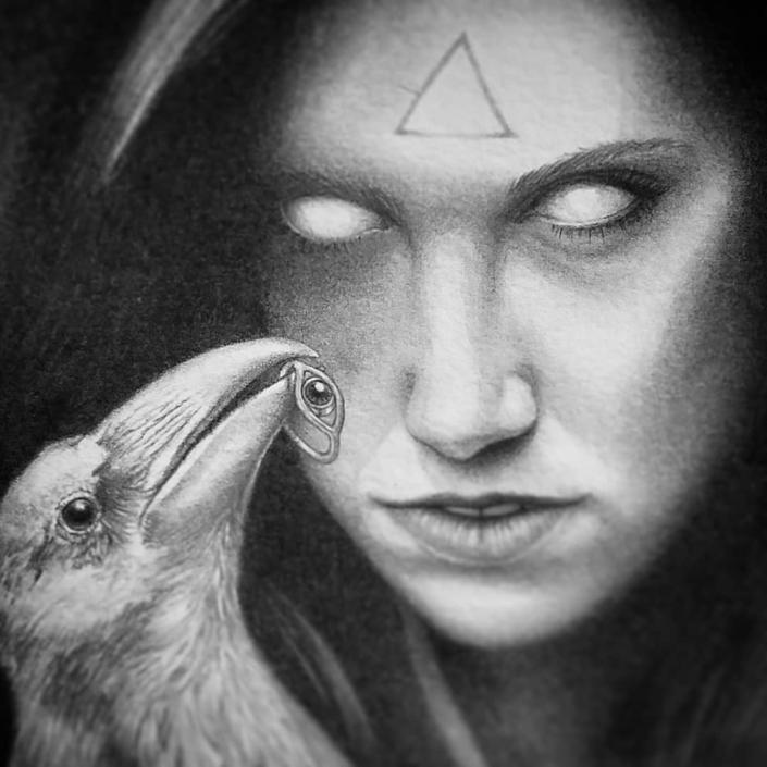 The Beholder - Original Illustration by Artist Carolina Lebar