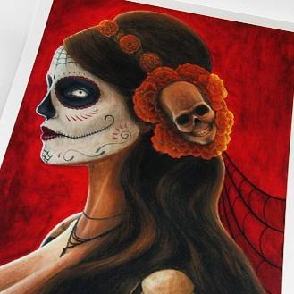 Señora de los Muertos - Original Acrylic Painting by Artist Carolina Lebar