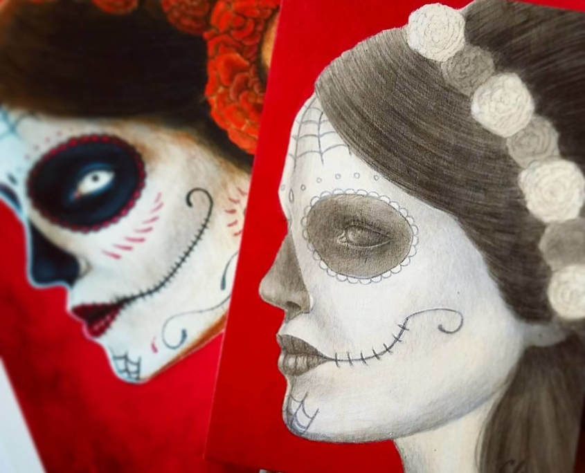 """""""Señora de los Muertos"""" Painting Study"""