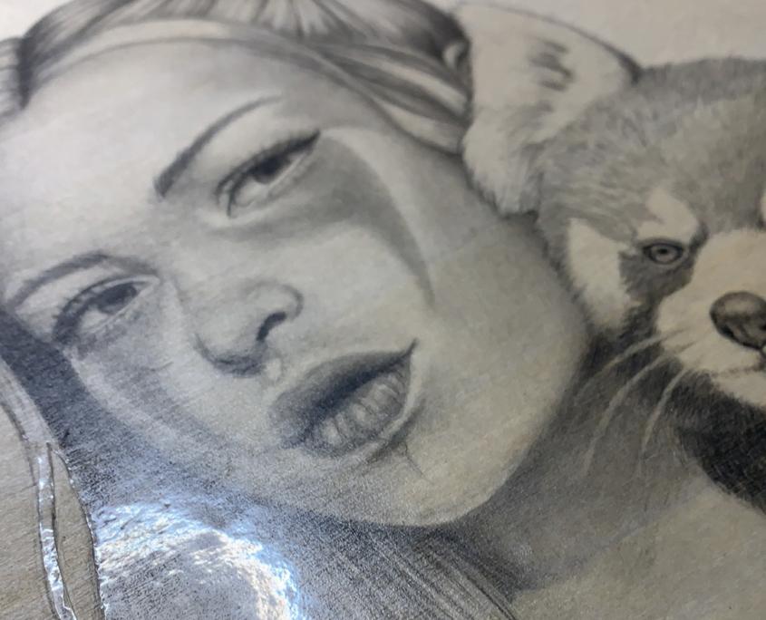 Commission - Original Acrylic Painting by Artist Carolina Lebar
