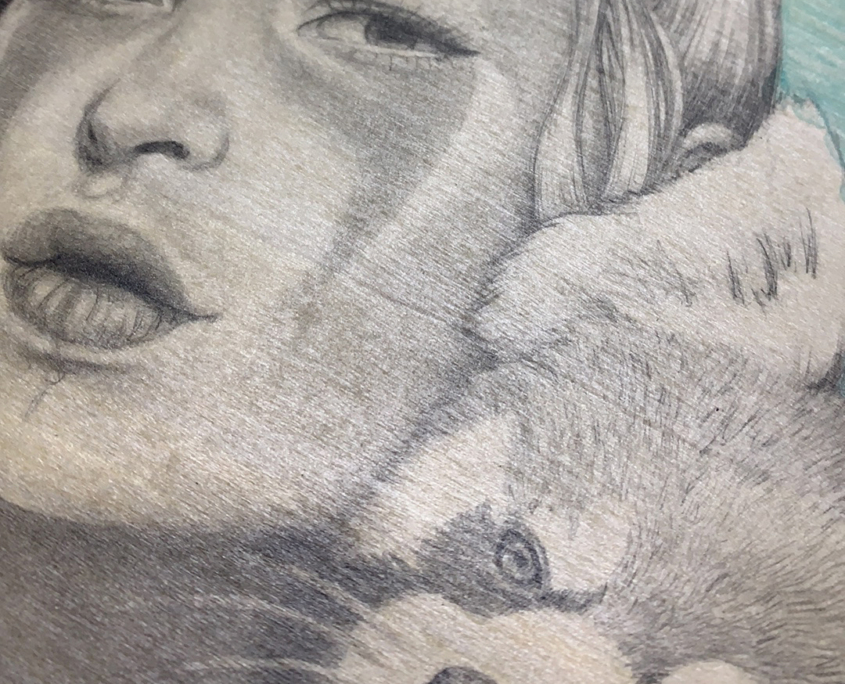 Commission - Drawing by Artist Carolina Lebar