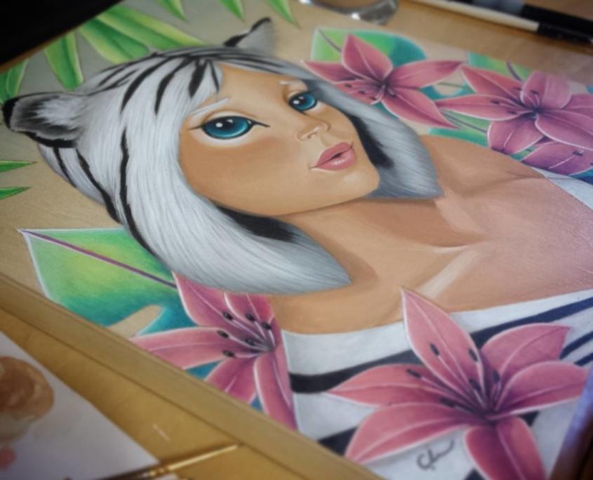 Tigre - Original Acrylic Painting by Artist Carolina Lebar