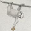 Sloth Art by Carolina Lebar