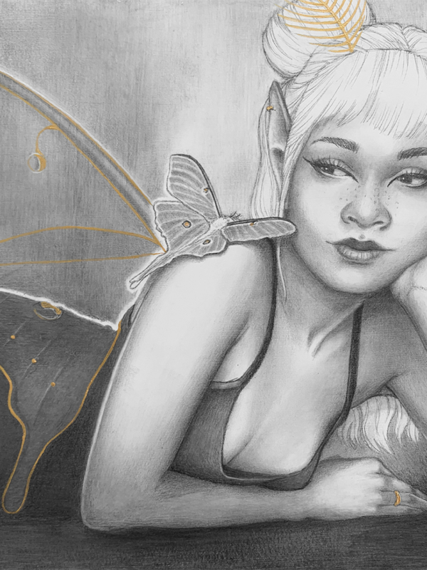 Fragile Beings Painting by Carolina Lebar