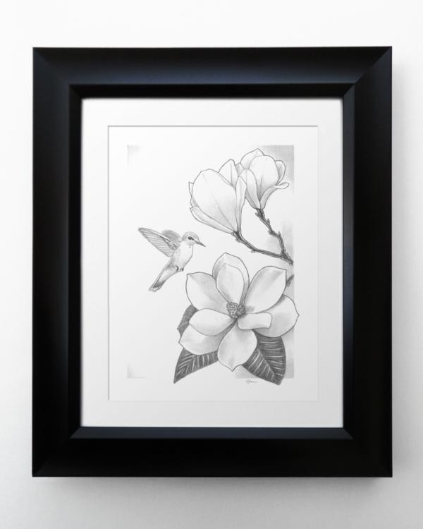 Magnolia and Hummingbird