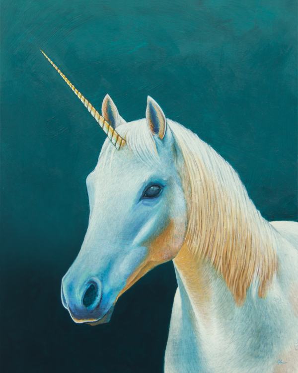 Unicorn Painting by Carolina Lebar